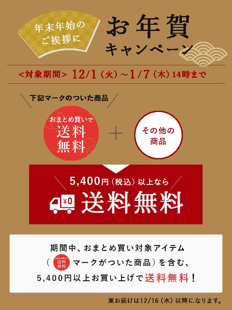 おまとめ買い(5,400円(税込)以上)で送料無料!