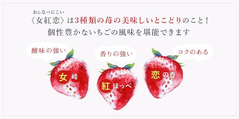 3種類の苺の美味しいとこどり!