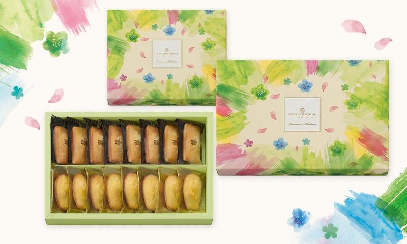 やわらかな春風に舞い上がる桜をイメージしたパステルカラーのパッケージ